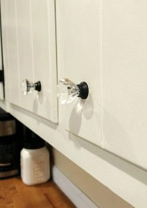 Painted Bronze Crystal Knobs