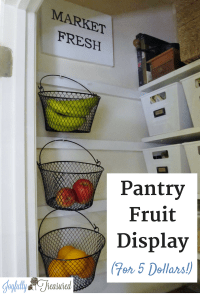 Create a basket display in the pantry