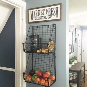 Market Fresh wall mounted basket fruit display