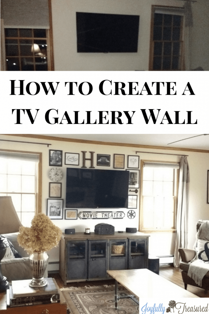 Tv Wall Decor With A Diy Gallery Wall Easy Pottery Barn Inspired
