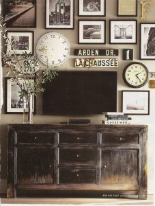 TV Wall decor ideas from pottery barn