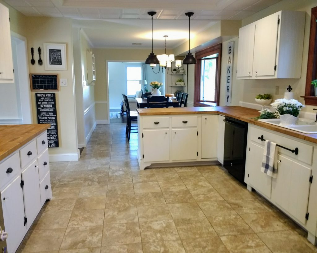 Farmhouse kitchen makeover reveal how we updated our 1960s kitchen to farmhouse style