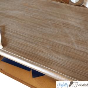 Lightly sand before applying gel stain
