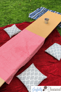 DIY Low Picnic table for a Teddy Bear Picnic Birthday Party