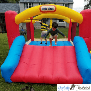 Little tikes bounce house, DIY birthday party entertainment