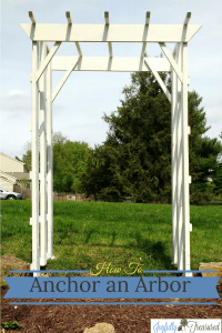 How to Anchor an Arbor, Install an Arbor without Concrete or Digging