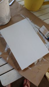 Make a wooden sign, Painting the wood piece white