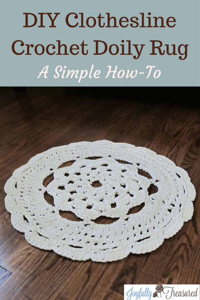 How To Crochet A Doily Rug With Clothesline Easy