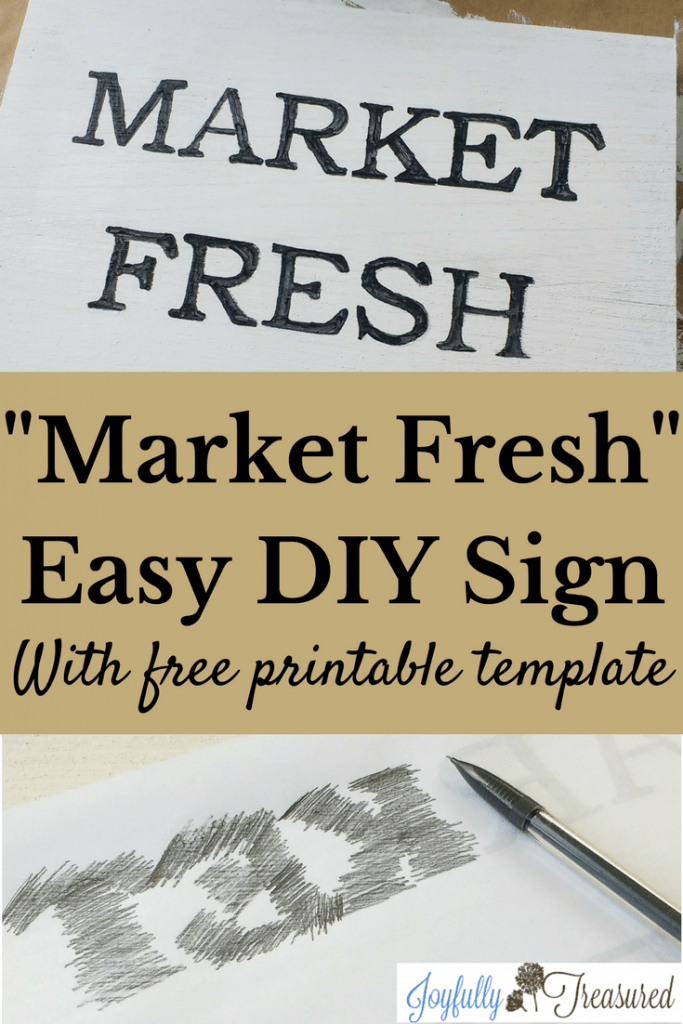 Easy DIY wooden sign with free printable