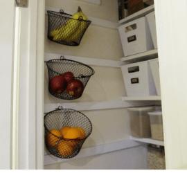 Simple Wall Mounted Fruit Basket Display