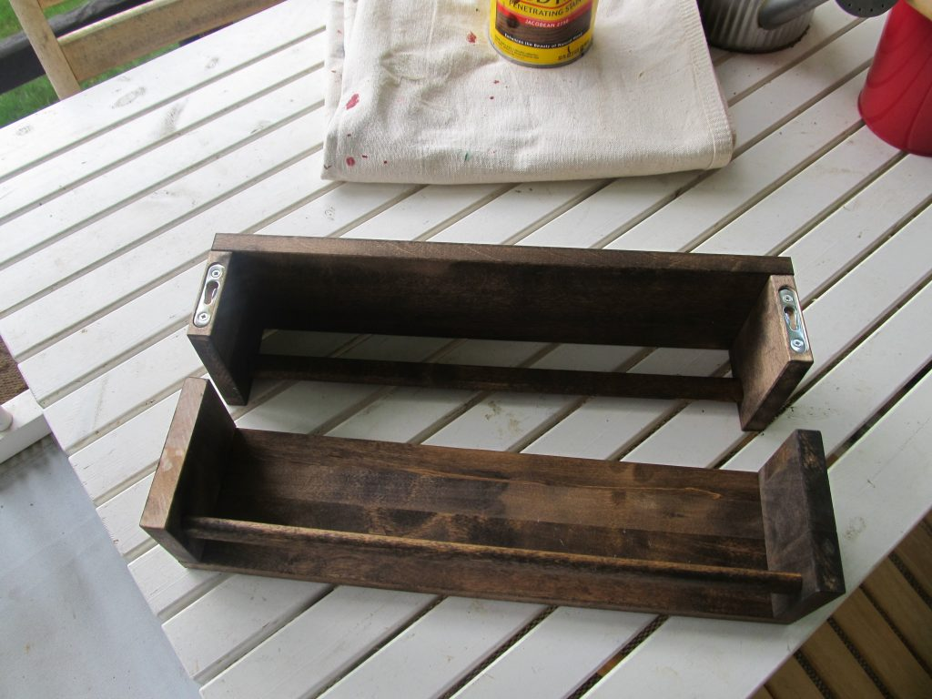 Staining Wood Spice Rack Joyfully Treasured