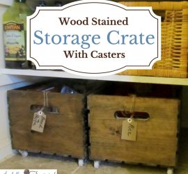 Wood Pantry Storage Crate on Wheels