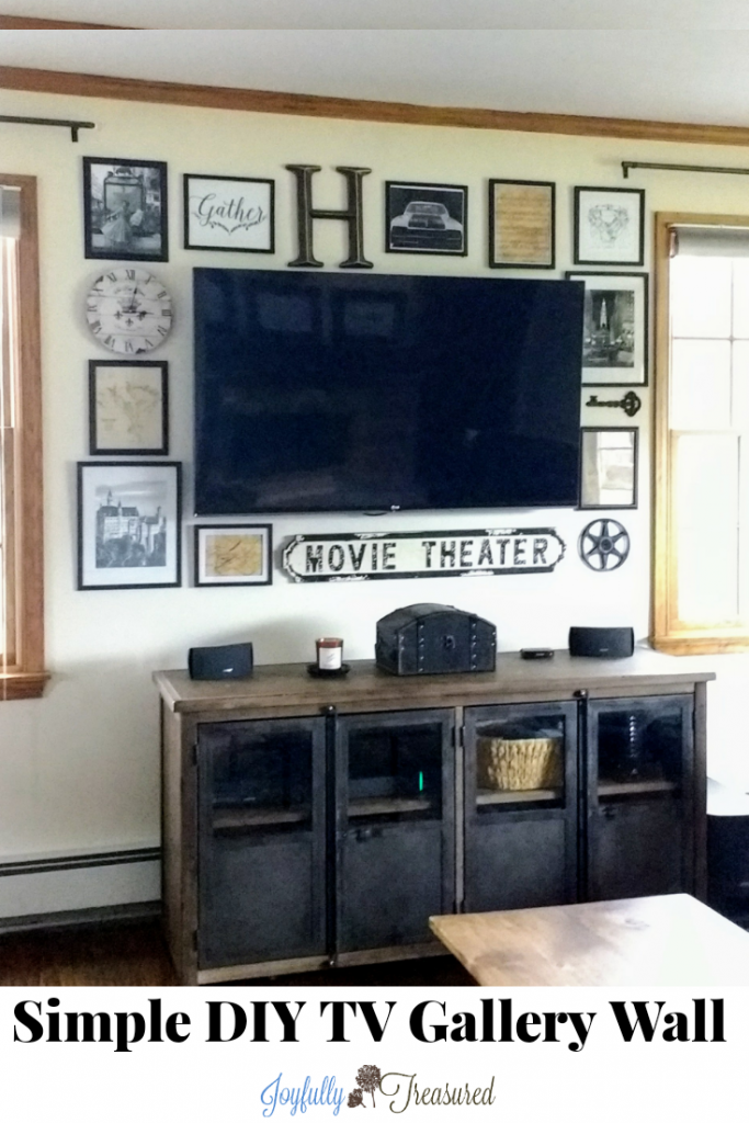 Create a gallery wall around the TV