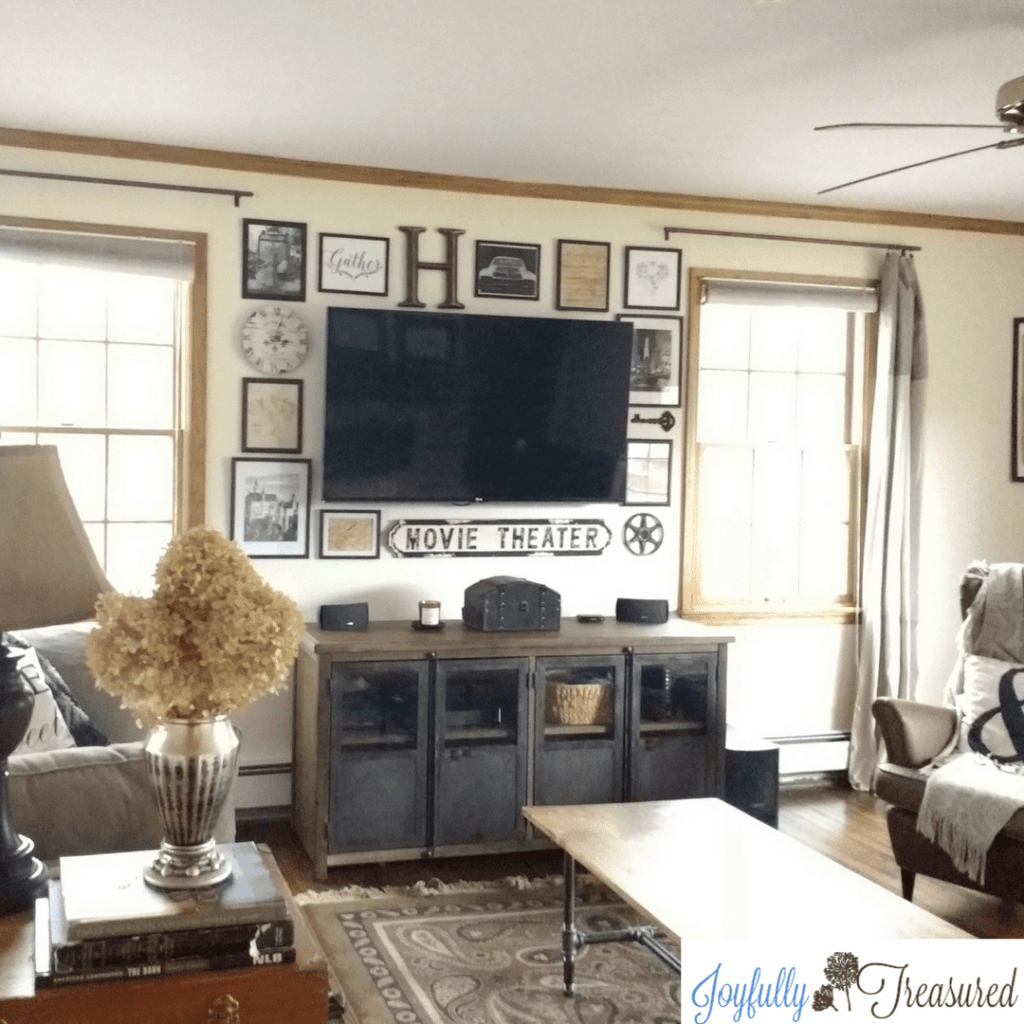 Create an affordable hallery wall with Dollar tree frames.