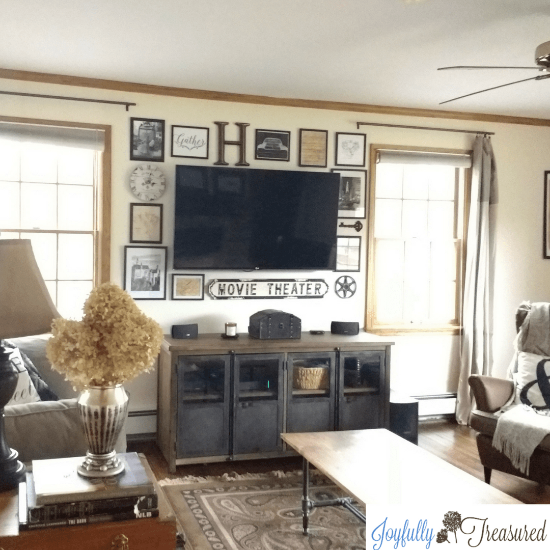 Tv Wall Decor With A Diy Gallery Easy Pottery Barn