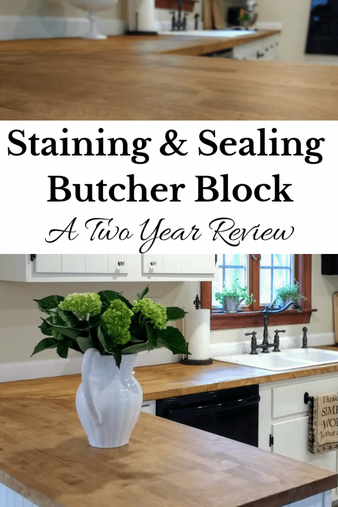 Sealing Butcher Block Countertops With Dark Tung Oil A Food Safe Stain For