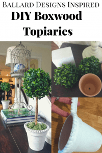 Create a simple faux Boxwood topiary