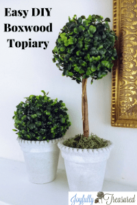 Faux Boxwood topiary inspired by Ballard Designs