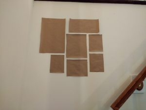 Using Kraft paper to mount a gallery wall