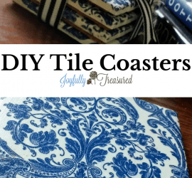 How to make coasters out of ceramic tile, easy DIY coasters with napkins
