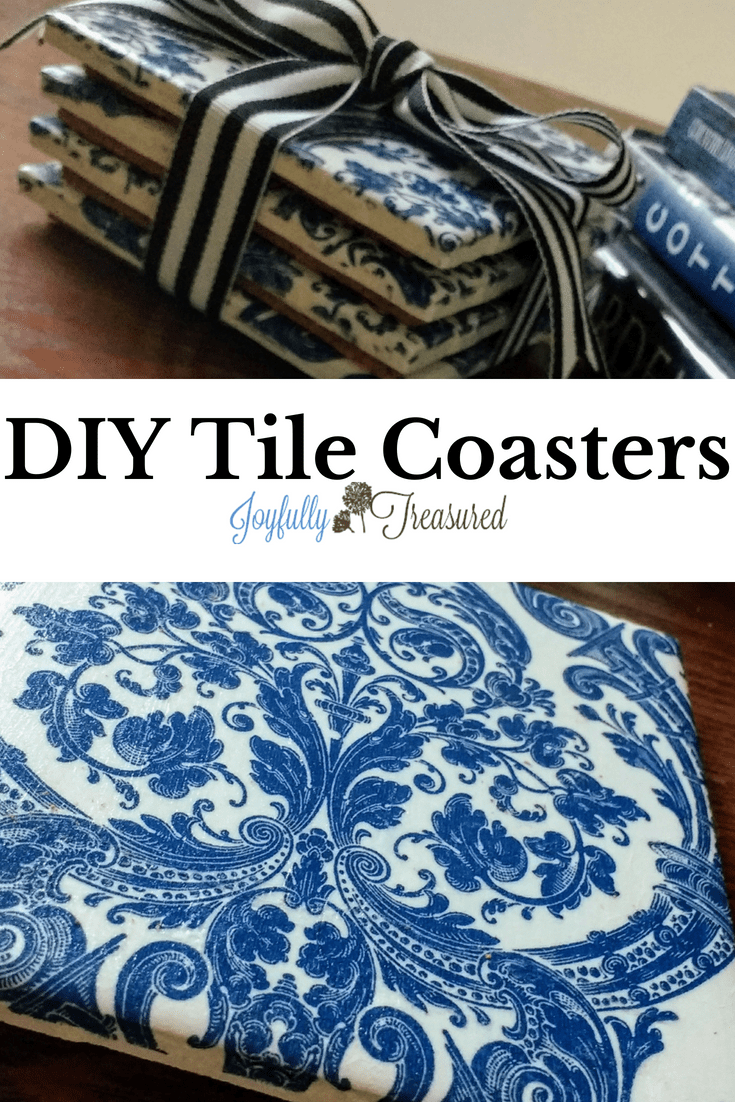 How To Make Coasters Out Of Ceramic Tiles And Napkins