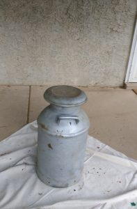 Milk can before spray painting