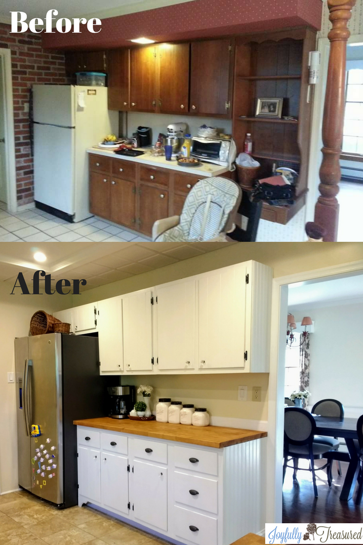 Farmhouse Kitchen Renovation Before After Joyfully Treasured