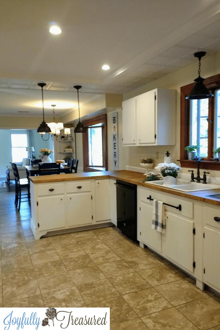 farmhouse kitchen remodel on a budget  joyfully treasured