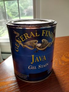 General Finishes Gel Stain in Java for furniture makeovers