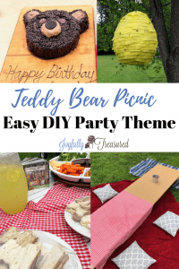 Teddy bear picnic ideas for food, decorations, and activities. Teddy bear picnic is such a great party theme because picnic style party themes are so easy to pull together. #birthdayparty #kidsparty #partythemes #summerbirthday #picnic