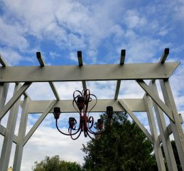 Making a solar chandelier for the arbor #homediy #solar #gardenideas