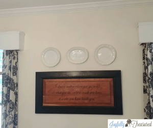 Quick and easy DIY to hang plates on the wall for budget friendly home decor