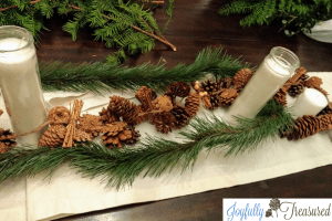 Make this DIY simple neutral winter centerpiece using natural elements. Easy decor that lasts beyond the holidays.