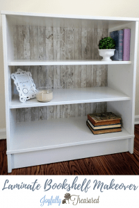 Paint over laminate shelves with BIN primer and latex paint. Easy DIY IKEA furniture flip using contact paper! #diy #makeover #furnitureflips #furnituremakeover #beforeandafter #ikeamakeover