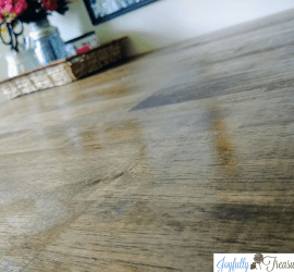 Stain butcher block dark walnut amd seal with wood salad bowl finish on thw offoce shipping amd craft table #homeoffice #butcherblock #homediy #officedecor