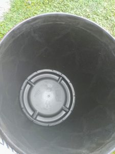 Diy solar fountain, Punch the drainage holrs for the bottom pot only.