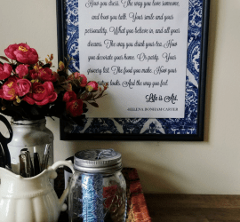 Create beautiful quote art with a dollar tree frame and a cocktail napkin!