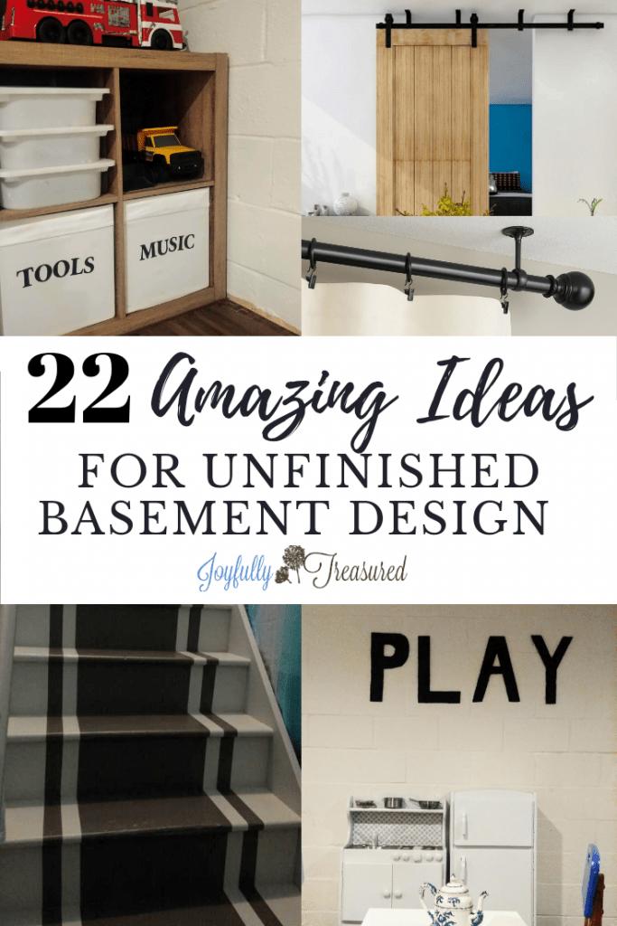 22 Amazing Ideas For Unfinished Basement Decor Joyfully Treasured