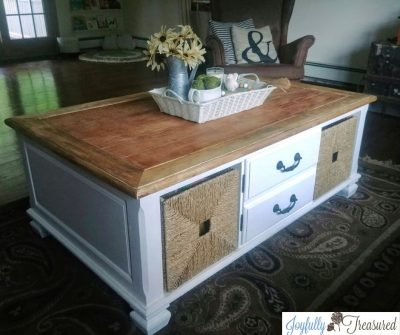 How to Refinish a Table Top, Farmhouse Coffee Table Makeover