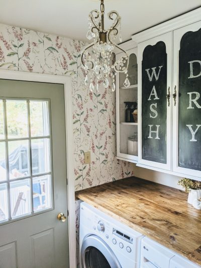 $100 Laundry Room Makeover DIY, Vintage Chic Laundry Room on A Budget