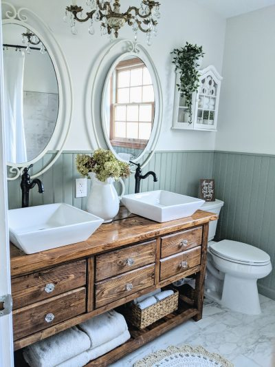 Vintage Chic Bathroom Remodel, One Room Challenge Reveal