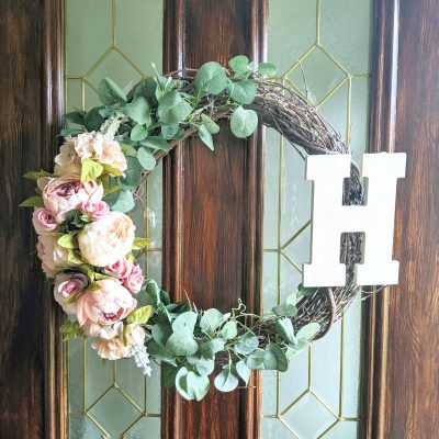 Affordable Spring Floral Wreath in Minutes