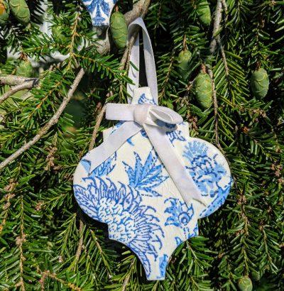 Arabesque Tile Ornaments, DIY Handmade Christmas Ornaments with Decoupage